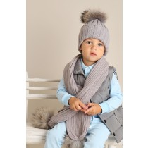 Single Hat & Scarf Grey