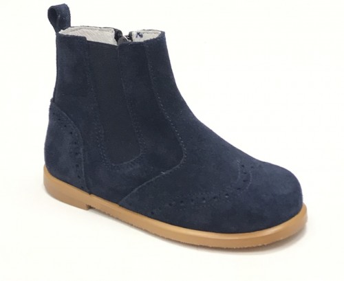 0219-H Navy Suede Boot
