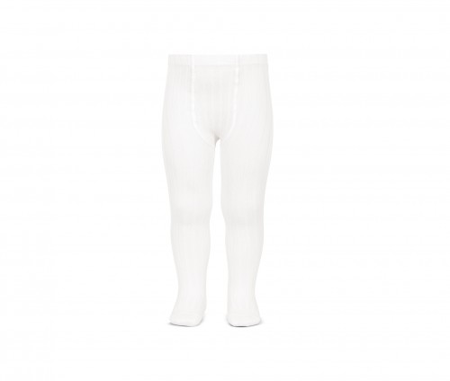 2.016/1 White Ribbed Tights