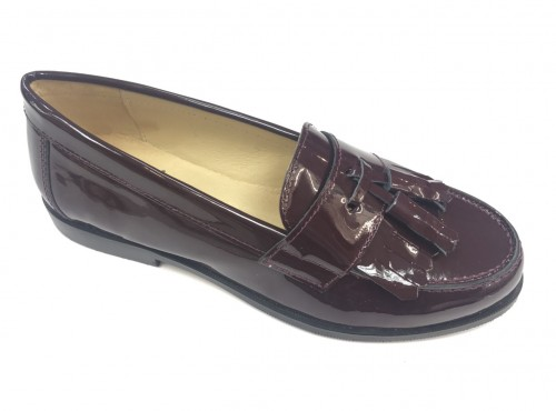 4948 Burgandy Patent Loafer