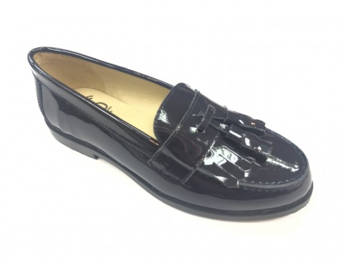4948 Navy Patent Loafer