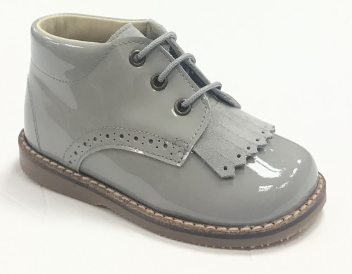 00295 Grey Fringe Brogue Boot