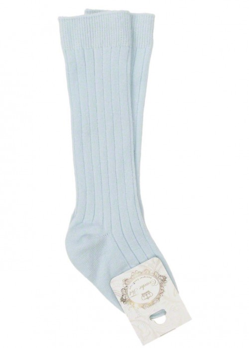 Couche Tot Baby Blue Ribbed Socks