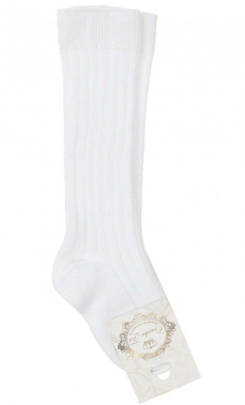 Couche Tot White Ribbed Socks