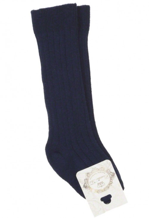 Couche Tot Navy Ribbed Socks