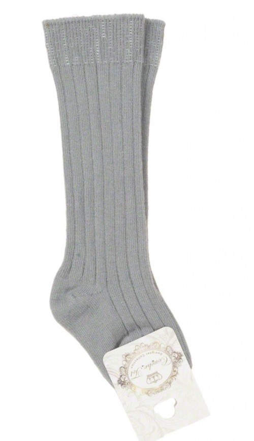 Couche Tot Grey Ribbed Socks