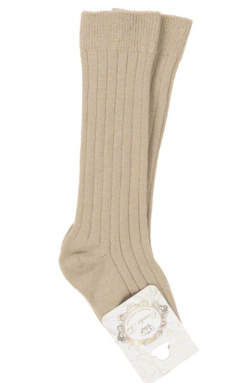 Couche Tot Camel Ribbed Socks