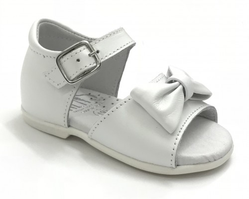 00113-E White Bow Sandal