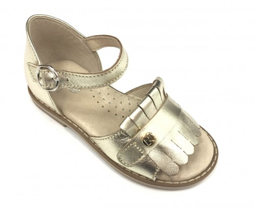 5440 Gold Fringed Sandals