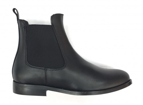 4911-N Kids Black Leather Chelsea Boot