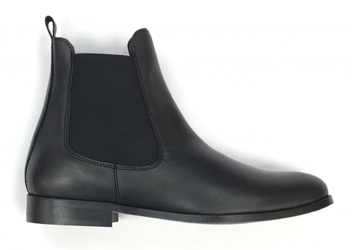 4911-N Ladies Black Leather Chelsea Boot