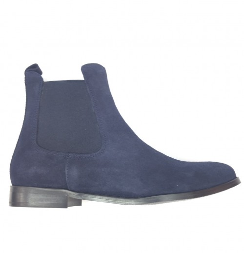 4911-N Ladies Navy Suede Chelsea Boot