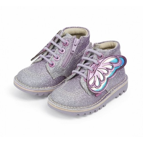 Kickers Girls/' Lachly Bow Strap Trainers
